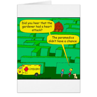 Cartão Desenhos animados do cardíaco de ataque do