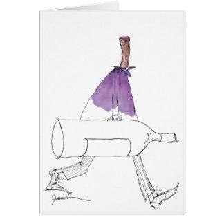 Cartão desenhos animados do homem do vinho, fernandes