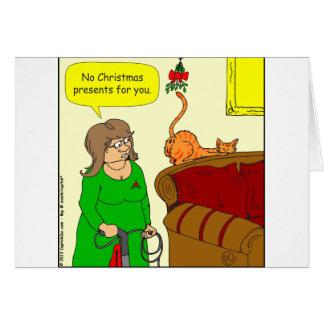 Cartão desenhos animados do Natal do visco do bumbum do