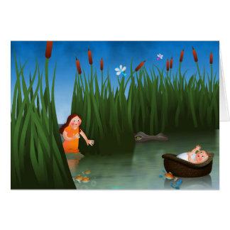 Cartão Desenhos animados do Passover de Moses do bebê