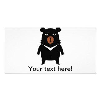 Cartão Desenhos animados do urso preto