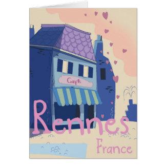 Cartão Desenhos animados do vintage de Rennes France