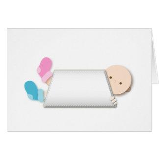 Cartão Desenhos animados dos montantes do bebê do