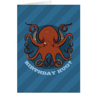 Cartão Desenhos animados dos tentáculos do polvo do