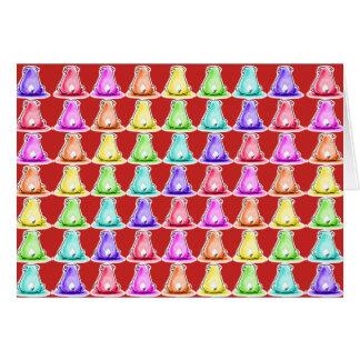 Cartão desenhos animados engraçados de assento da cor