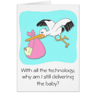 Cartão Desenhos animados engraçados do bebê do carregando