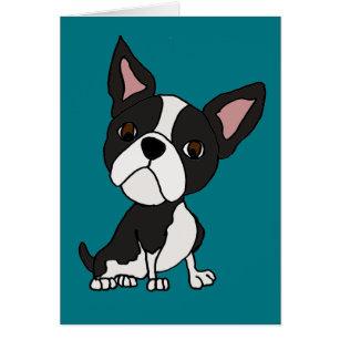 Cartão Desenhos animados engraçados do cão de filhote de