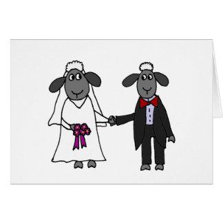 Cartão Desenhos animados engraçados do casamento dos