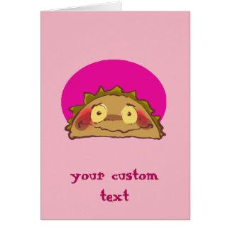 Cartão desenhos animados engraçados do taco tímido