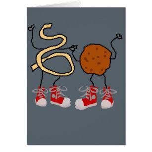 Cartão Desenhos animados engraçados dos espaguetes e dos