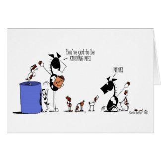 Cartão Desenhos animados engraçados dos miúdos do cavalo