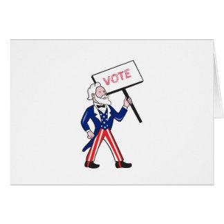 Cartão Desenhos animados eretos do voto do cartaz do tio