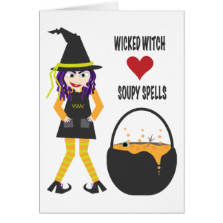 Cartão Desenhos animados maus da bruxa