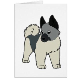 Cartão desenhos animados noruegueses do elkhound