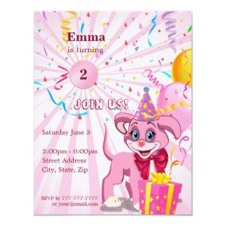 Cartão Desenhos animados personalizados Invitaion do