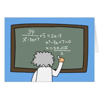 Cartão Desenhos animados temáticos dos Maths engraçados