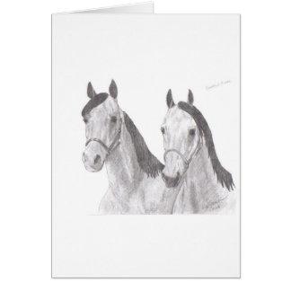 Cartão Desenhos bonitos do cavalo das éguas