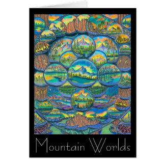 Cartão Desenhos dos mundos da montanha