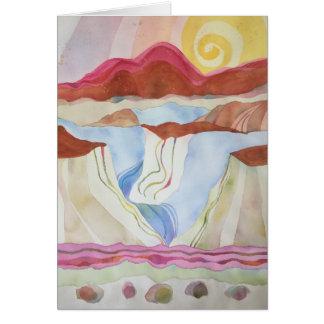 Cartão Desfiladeiro do Rio Grande, ao sul de Taos,