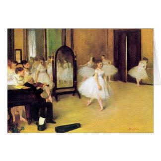 Cartão Desgaseifique dançarinos de balé