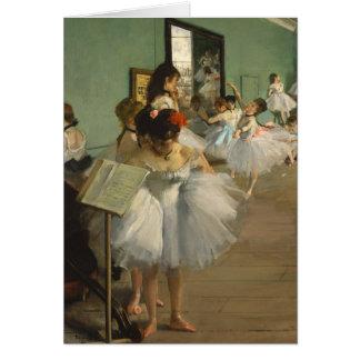 Cartão Desgaseifique dançarinos de balé da classe de