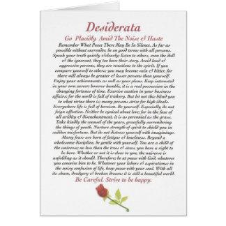Cartão DESIDERATA Card=Rose