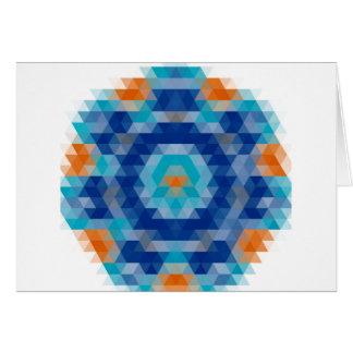 Cartão Design abstrato do mosaico