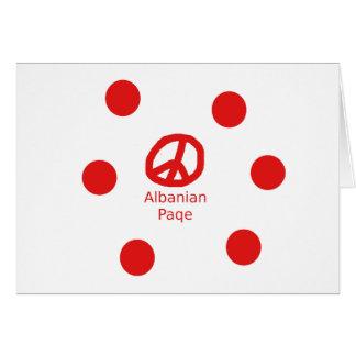 Cartão Design albanês do símbolo de paz
