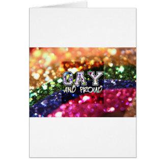 Cartão Design alegre e orgulhoso do arco-íris