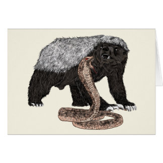 Cartão Design animal sem medo do cobra das caras do