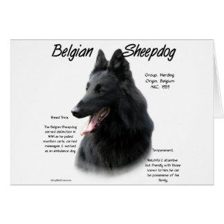 Cartão Design belga da história do Sheepdog