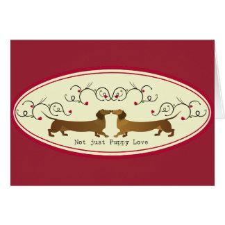 Cartão Design bonito do amor de filhote de cachorro do