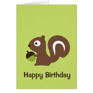 Cartão Design bonito do esquilo do bebê