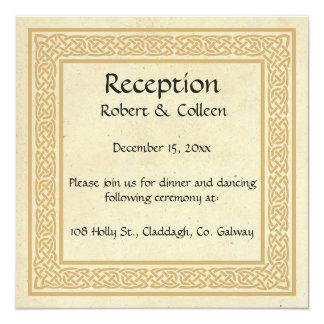 Cartão Design celta com recepção de casamento de Claddagh