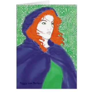 Cartão Design celta do cartão, do Bridget & do Knotwork