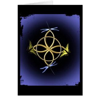 Cartão Design celta do nó