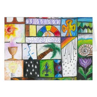 Cartão - design colorido
