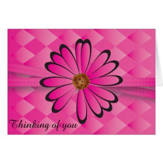 Cartão Design cor-de-rosa elegante da flor