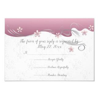 Cartão Design cor-de-rosa elegante do redemoinho da