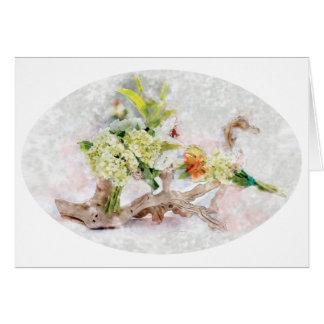 Cartão Design da aguarela de Bella dos Hydrangeas por Ana