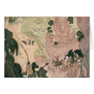 Cartão Design da cortina para Nikolai Rimski-Korsakov