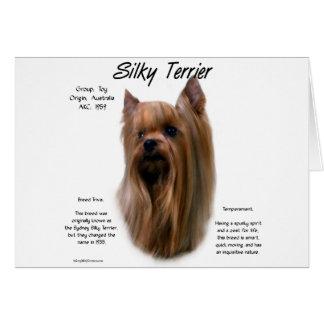Cartão Design da história de Terrier de seda