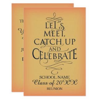 Cartão Design da reunião de escola