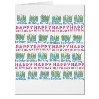 Cartão Design da vela do feliz aniversario