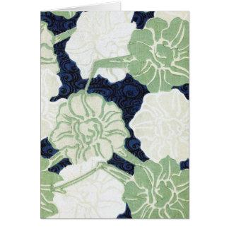 Cartão Design das flores do vintage