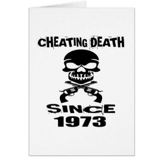 Cartão Design de engano do aniversário da morte desde