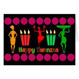 Cartão Design de Kwanzaa colorido e alegre com