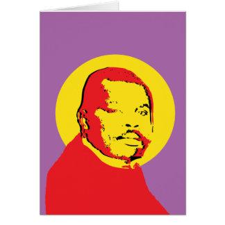 Cartão Design de Marcus Garvey do pop art