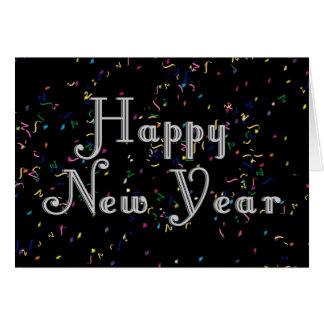 Cartão Design de texto do feliz ano novo