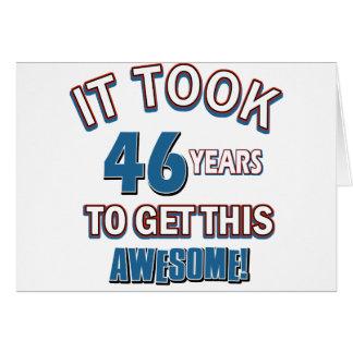 Cartão Design do aniversário das pessoas de 46 anos